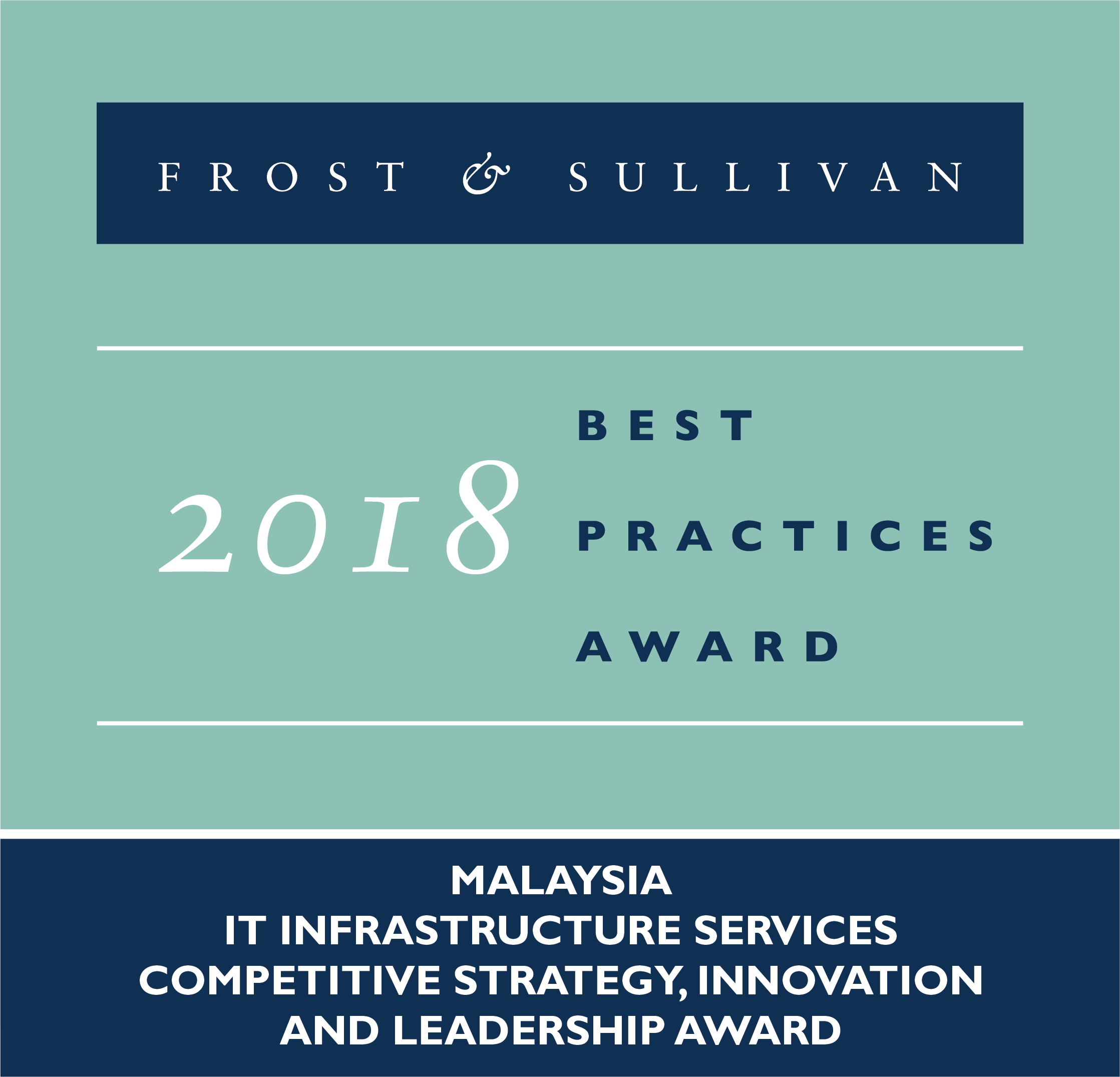 HeiTech Padu Berhad Wins The 2018 Frost & Sullivan Malaysia Excellence Awards For IT Infrastructure Services Competitive Strategy, Innovation & Leadership Award
